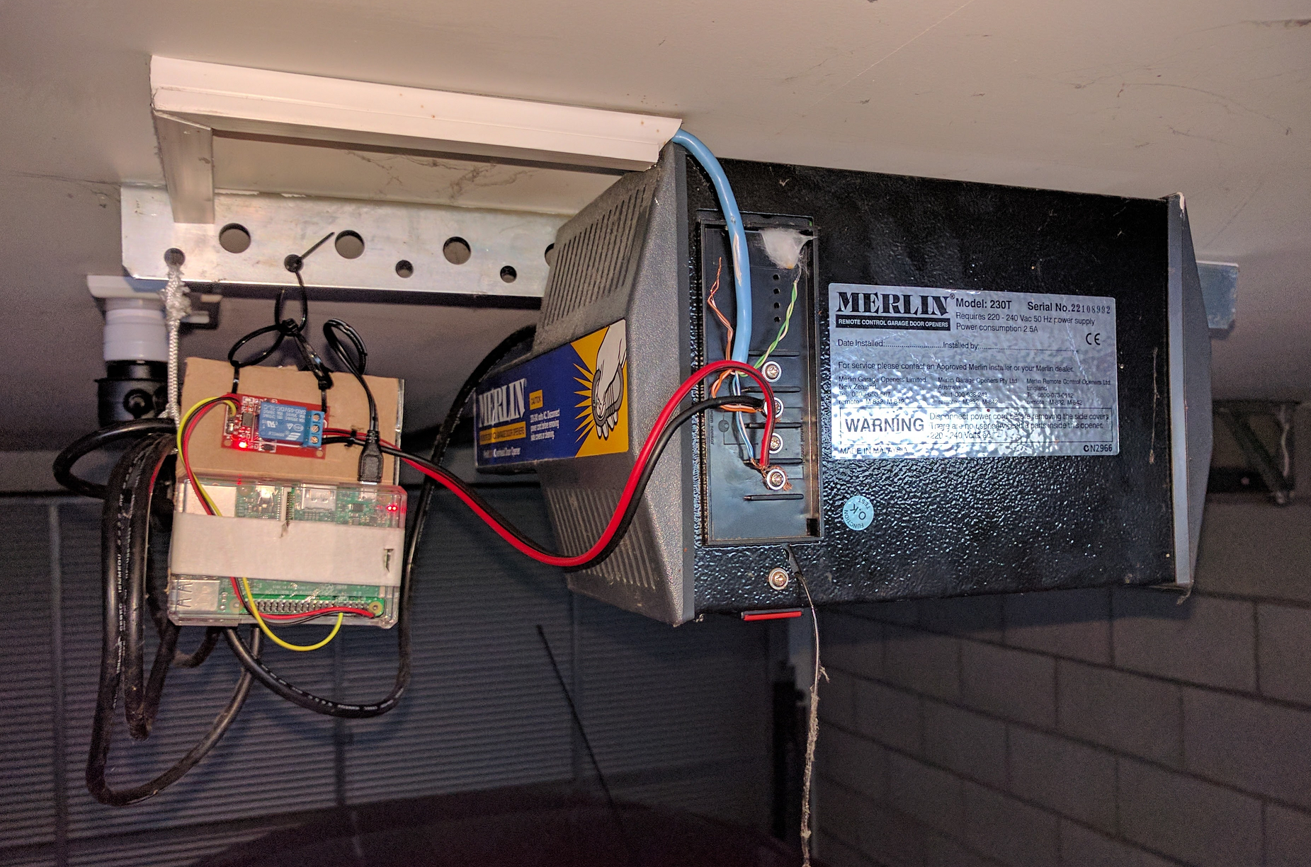 Raspberry Pi Garage Door Opener For Merlin 230t Using Aws Iot And Wiring Diagram Supply